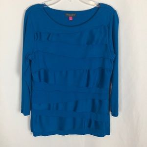 Vince Camuto blue long sleeve top